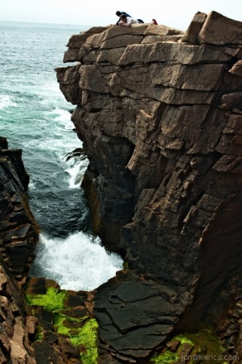 The best time to view Thunder Hole is during high or low tides.