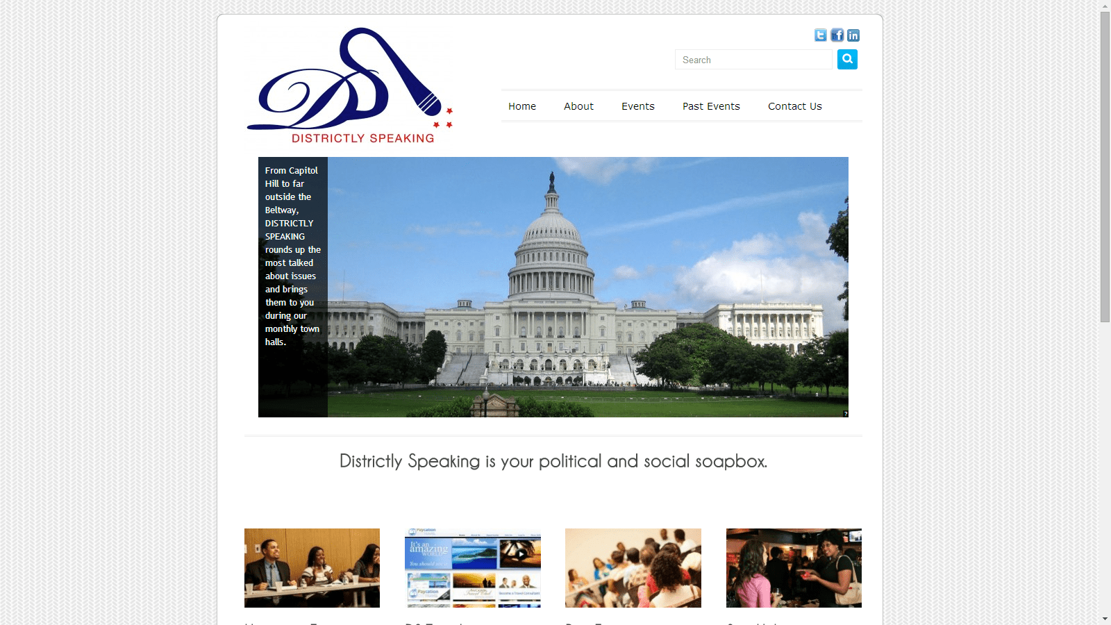 Districtly Speaking Original Site