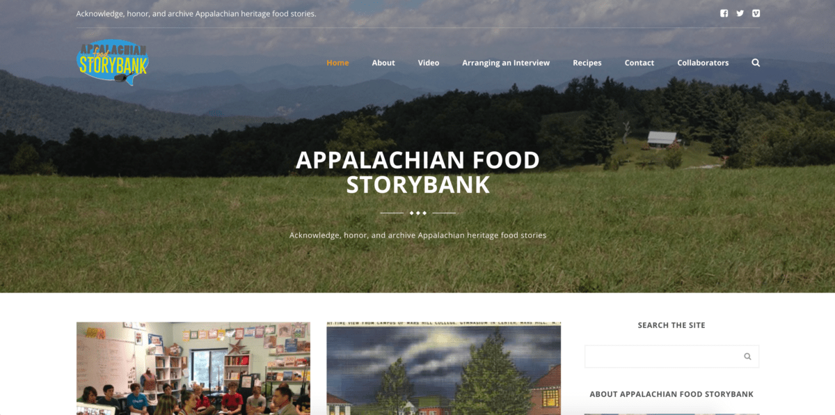 Appalachian Food Storybank Site