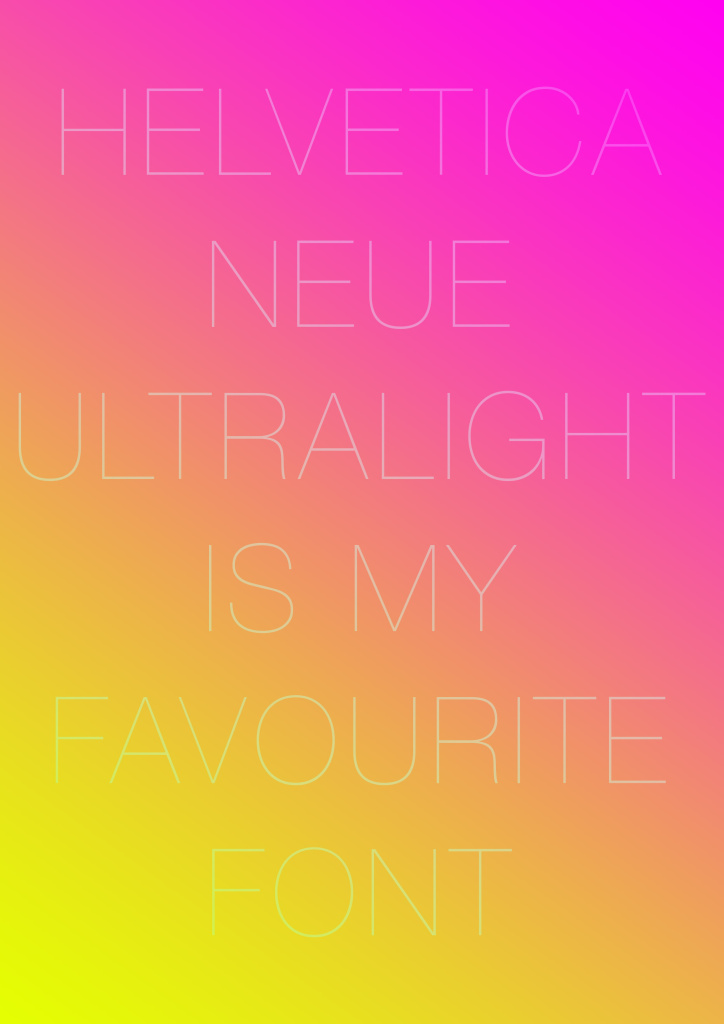 My Favourite Font web