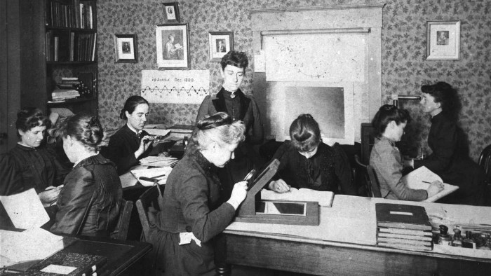 The Harvard computers, ca. 1890. Wikimedia Commons.