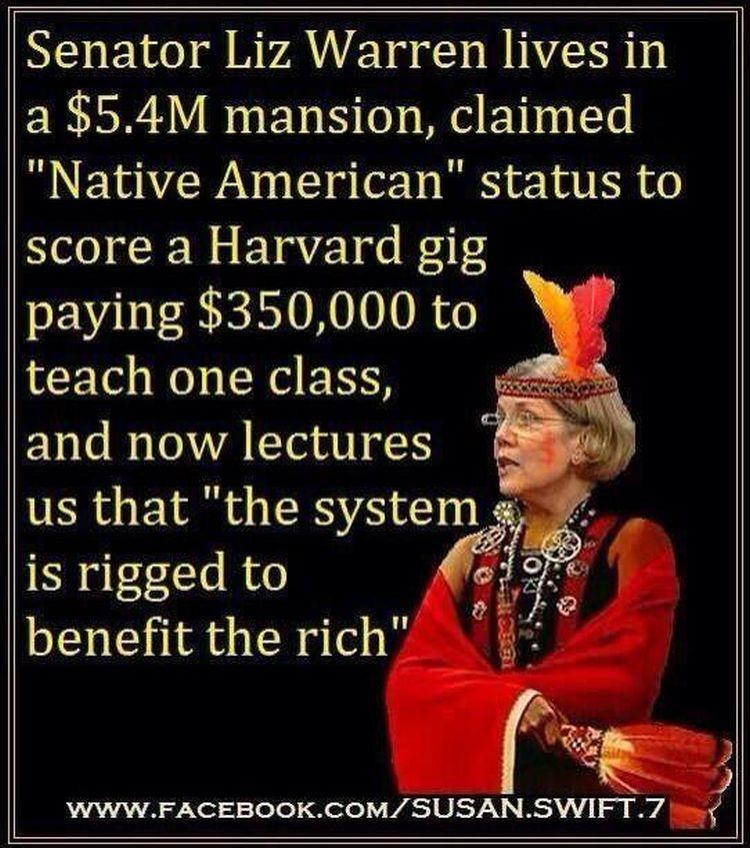 Elizabeth Warren Caught 'not' red handed,' but Pushing Democratic Lies to America's minorities!