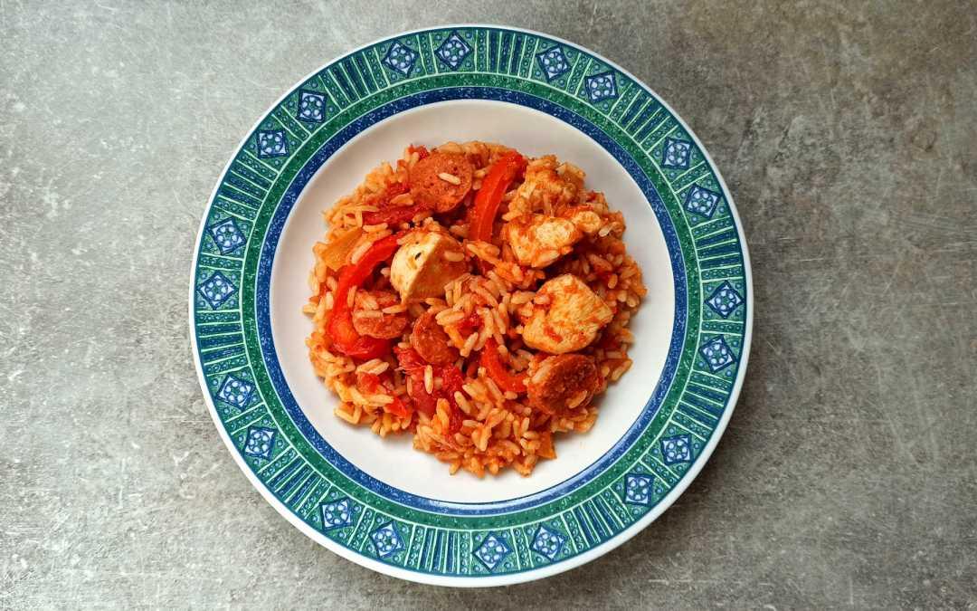 Jambalaya poulet et chorizo