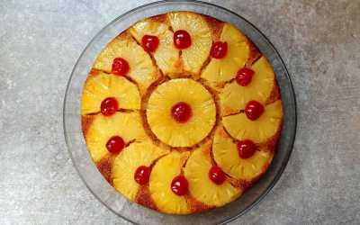 Gâteau ananas caramel