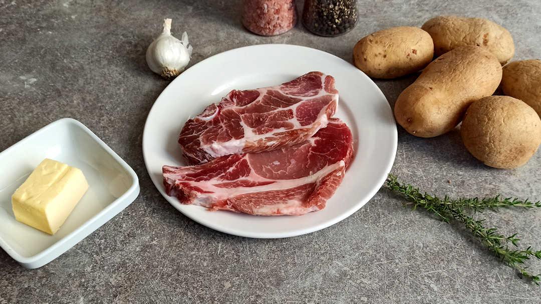 Les ingrédients des côtelettes de porc à la vapeur