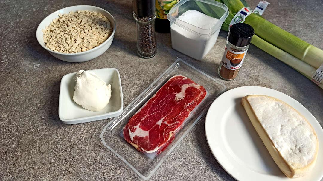 Les ingrédients du gratin de crozets
