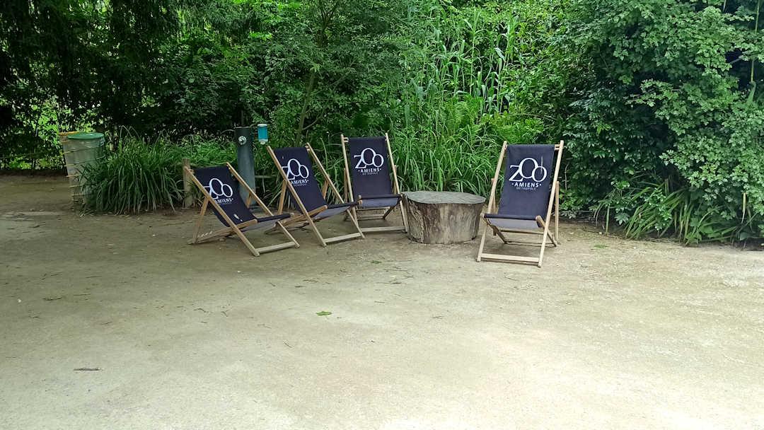 Espace détente du zoo d'Amiens