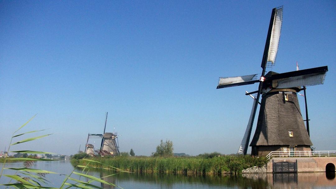 Overwaard - les moulins en bois