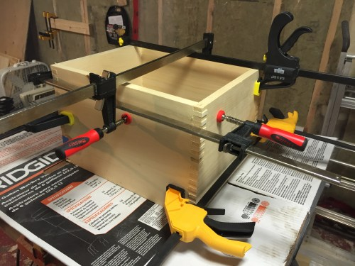 The box is glued and clamped