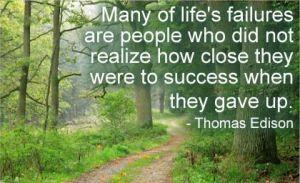 Thomas Edison quote on failure