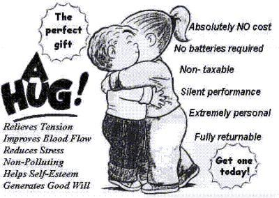 what does a hug mean