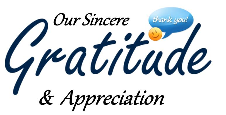 Image result for thank and appreciation