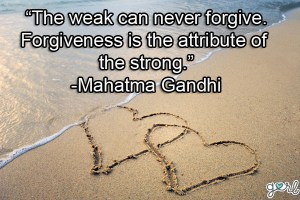 Those we think the most of can be the most difficult to forgive, BUT we must forgive to move forward at last.