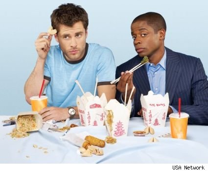 Shawn and Gus Eating and Being Psychic