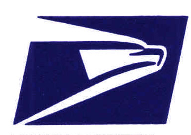 The logo of the US Postal Service