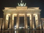 Originally, the Brandenburg Gate was just a city gate, completed in 1791. On top is the goddess Victoria in a quadriga.