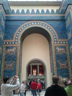 Pergamon Museum. This is the actual *Ishtar Gate*. Amazing.
