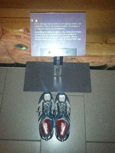 Auckland Museum: one is requested to remove one's shoes when entering the meeting house. I did so. :)