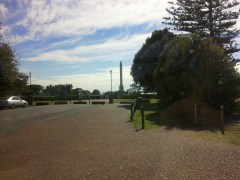 The first stop on the hop-on/hop-off bus tour of Auckland I took was Bastion Point, a former military lookout.