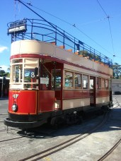 MOTAT: an early Auckland electric tram car.