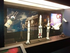 Stardome has a small museum portion; this is its rocketry section.