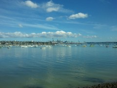 This is Waitemata Harbour, just north of Auckland. I can see why someone would want to build a city here. :)