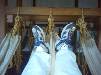 We were invited to lie in one of the hammocks at the Hyde Park Barracks, so...I did. :)