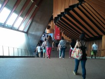 A hallway in the Sydney Opera House. It's interior is as architecturally dazzling as its exterior.
