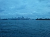 Downtown Sydney, on the ferry returning from the zoo.