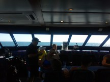 The deck of our scuba dive boat, on the way to the Great Barrier Reef.