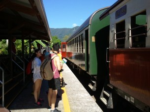 Freshwater Station, the starting point of the Kuranda Scenic Railway portion of my Cairns rainforest tour. The train was originally used for mining camp support.