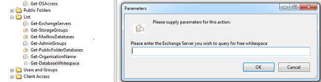 Exchange Server 2003 Database Whitespace report