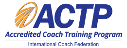 The Gold Standard in Coaching:  The International Coach Federation logo