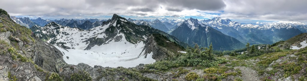 Panorama of Canadian British Columbia's seemingly endless range of mountains