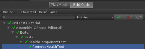 Running a unit test suite in Unity