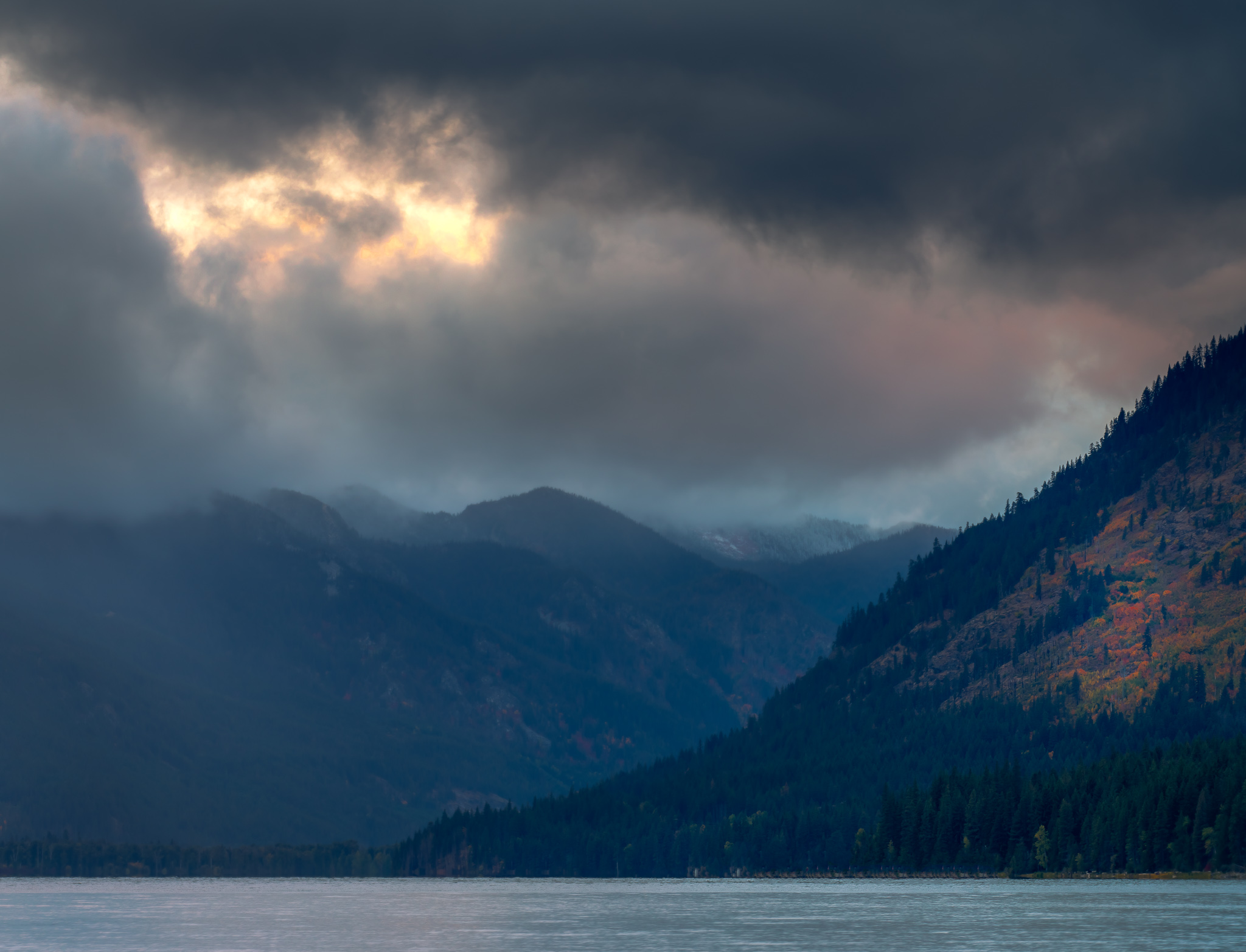 Fall Sunset at Lake Wenatchee