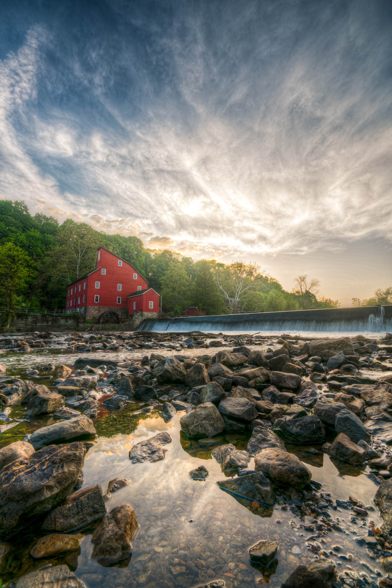 Red Mill In Sunset
