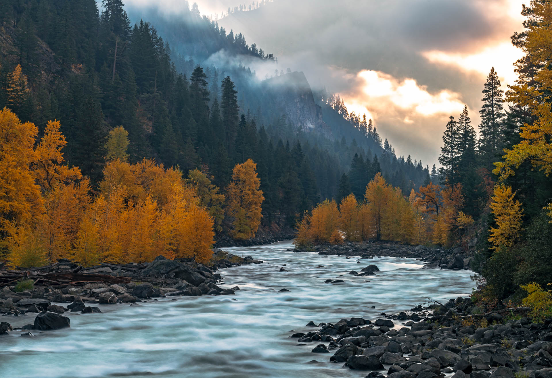 Tumwater Canyon Fall Colors, Washington