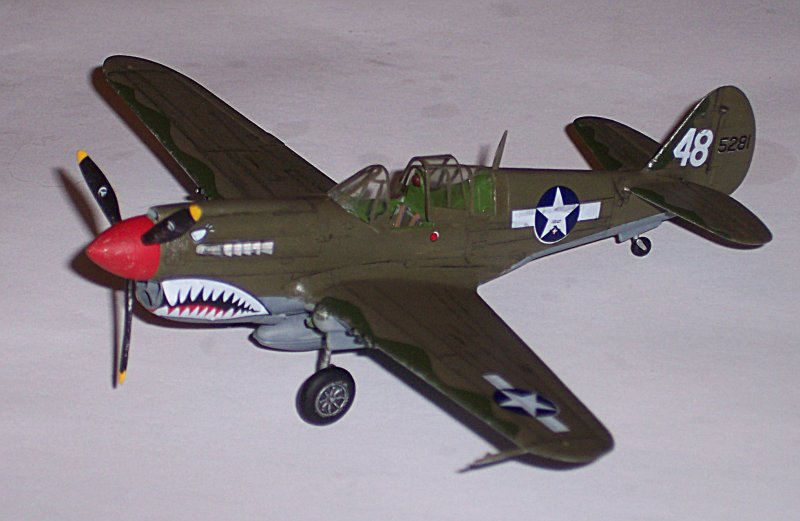 My first model when I returned to the hobby was this Academy P-40E in 72nd scale.