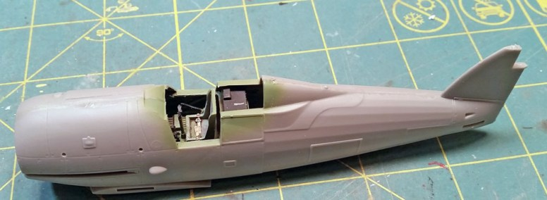 Finish up by applying glue to the rest of the fuselage join, and it's all together!
