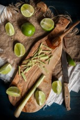 Lime Honey and Lemongrass Popsicles 3