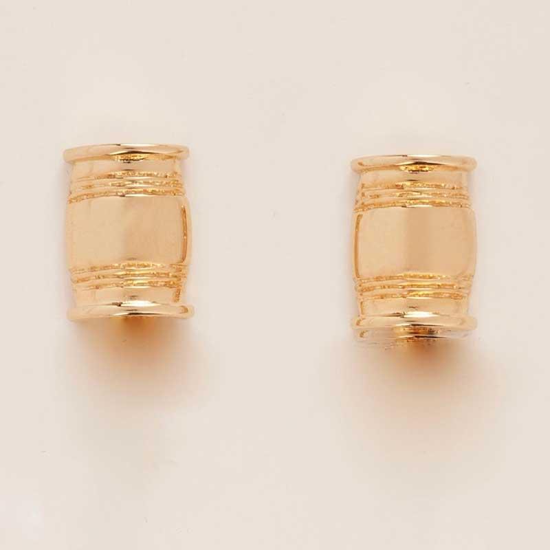 Asa Small Barrel Post Earrings In Gold Or Silver