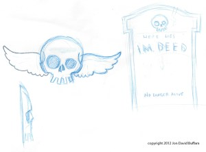 Halloween 2012 headstone sketch small