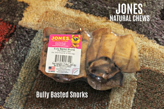 Bully Basted Snorks from Jones Natural Chews should be at all dog events, forever