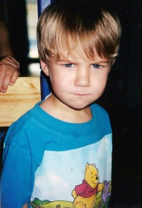 Angry little boy