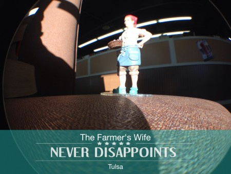Farmer's Wife through the fish eye lens