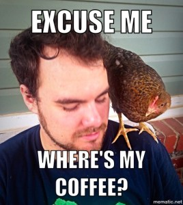 Excuse me - where's my coffee?