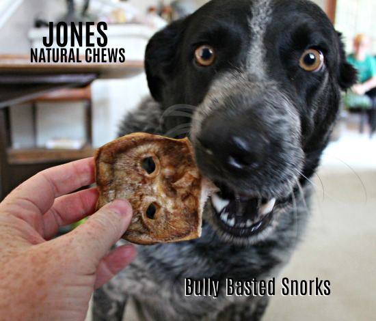 Bully Basted Snorks from Jones Natural Chews - Treat your dog to happiness