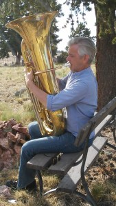 Jon playing tuba