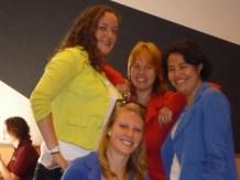 Michelle, Jorine, Leontine en Fatima